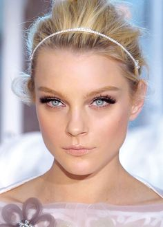 """Jessica Stam for Louis Vuitton S/S 2012.  Makeup by my favorite makeup artist, the brilliant, incomparable Pat McGrath.  """"This season, lashes are both extremely exaggerated and inspired by the '50s."""""""