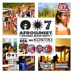 AFROSUNSET  Kizomba Beach Party  PROXIMO DOMINGO no KONTIKI - 16h. NO SHIRT - NO SHOES - JUST DANCE!  info em Facebook: Kizomba Power  ENTRADA LIVRE   #kontiki #kizomba #kizombapower #semba #zouk #tarraxinha #costa #afrosunset #djtavas #DjEmerson
