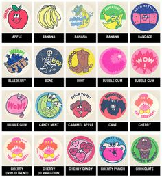 Vintage scrath 'n sniff stickers. I LOVED them! I had lots of them, my teachers would put them on my papers... Want them back -NOW.
