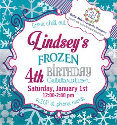 A personal favorite from my Etsy shop https://www.etsy.com/listing/259135980/frozen-inspired-birthday-party