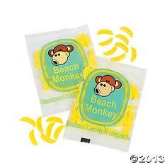Beach Monkey Banana-Shaped Candy Fun Packs - Oriental Trading