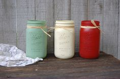 Your place to buy and sell all things handmade Colored Mason Jars, Fall Mason Jars, Glitter Mason Jars, Mason Jar Crafts, Mason Jar Diy, Mason Jar Lamp, Spray Paint Mason Jars, Painted Mason Jars, Waverly Chalk Paint