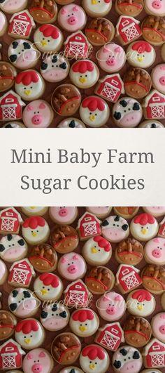 Barnyard animal cookies - farm animal cookies - barn cookies - decorated cookies - birthday cookie favors #affiliate