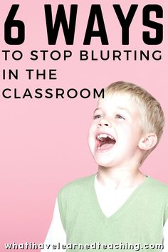 How do you stop students from blurting out in the classroom? Do you have some processes in place to curb blurting, but they're just not working for you anymore? Here are some classroom management ideas to stop students from blurting out in the classroom that you can add to your repertoire. #blurtingout #classroommanagement