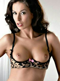 Uncensored open cup bra sexy lingerie