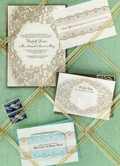 These wedding invites have a lovely antique feel, very pretty