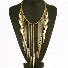 Gold Spike Necklace NWOT Gold spike necklace.                                       LAST ONE Jewelry Necklaces