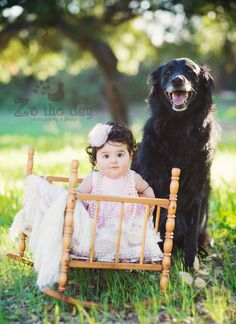 a dog and his baby friend :-)