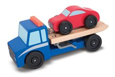Flatbed tow truck gift, tow truck, wooden toys, toy set