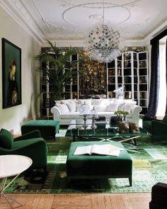 """A Colorful Rug Study: Emerald Green"" by Jeanine Hays on @Doris Vee Leslie Blau"