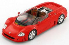 Model of the outrageous Volkswagen W12 Roadster concept car of 1998.
