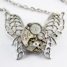 A Steampunk Monarch Butterfly Necklace by londonparticulars, via Flickr