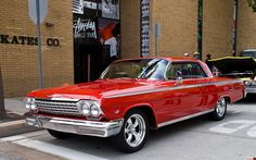 1962 Impala, red 2-door - I love red - Sweeet Ride!