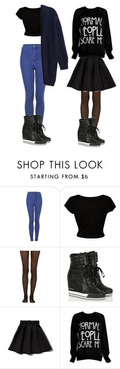 """""""Shirin David & luna darko inspired outfit mit DKNY Schuhen"""" by julesm13 ❤ liked on Polyvore featuring Topshop, CO, MTWTFSS Collection, Fogal, DKNY and Abercrombie & Fitch"""