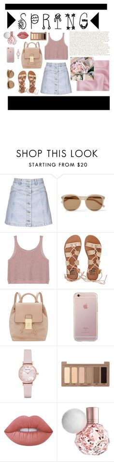 """Spring Essentials #2"" by mary03l on Polyvore featuring Topshop, Yves Saint Laurent, Billabong, Ted Baker, Emporio Armani, Urban Decay and Lime Crime"