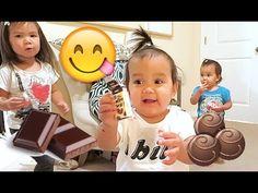 When Babies Eat Chocolate - August 11, 2015 -  ItsJudysLife Vlogs