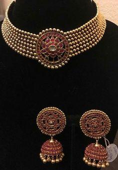 Buy Jewellery Online in India Indian Jewelry Sets, Indian Wedding Jewelry, India Jewelry, Bridal Jewelry, Temple Jewellery, Buy Jewellery Online, Gold Jewellery Design, Gold Jewelry, Jewelry Patterns