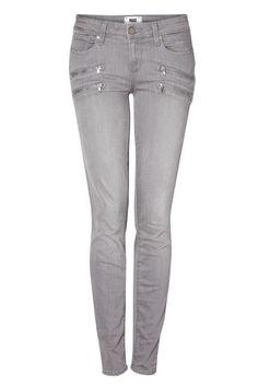 The Gray Skinny Paige Denim Edgemont Element Grey Skinny Zip Jeans, $356.12  Read more: 100 Denim and Jeans Trends for 2013 - Womens Designer Denim - ELLE  Follow us: @ElleMagazine on Twitter | ellemagazine on Facebook  Visit us at ELLE.com