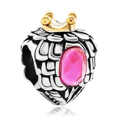 Pugster Crystal Pink Mom Sister Love Heart European Beads Fit Charm Bracelets | eBay