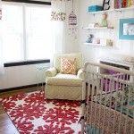 curtains, bedding, purple birdcage. Adorable nursery!