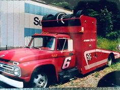 Racing Team, Auto Racing, Drag Racing, Truck Bed, Tow Truck, Chevrolet Trucks, Ford Trucks, Truck Ramps, Toy Hauler Trailers