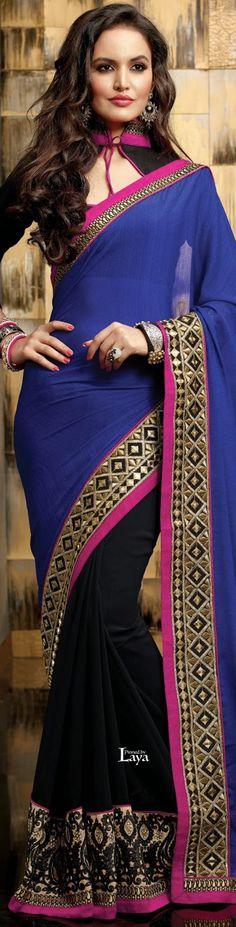 ♔LAYA♔.❋*✿SAREES.✿*❋.♔ Pakistani Dresses, Indian Sarees, Indian Dresses, Indian Outfits, Saree Jacket Designs, Blouse Designs, Blouse Patterns, Cheongsam, Hanfu