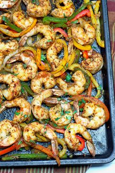 This recipe for Spicy Cajun Shrimp Fajitas is always a huge hit among family and friends. Tender shrimp and veggies that is super easy and full of flavor. Keto Shrimp Recipes, Cajun Recipes, Mexican Food Recipes, New Recipes, Dinner Recipes, Cooking Recipes, Healthy Recipes, Meatless Recipes, Party Recipes
