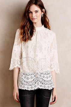 Lace Composition Blouse #anthrofave