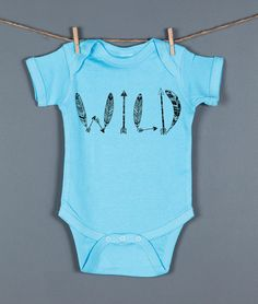 Wild Baby One Piece Wild Graphic Baby by FeathersForeverShop