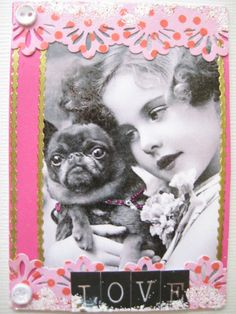 Vintage ATC with a Dog