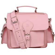 Grafea Leather Camera Bag - Pink ($290) ❤ liked on Polyvore