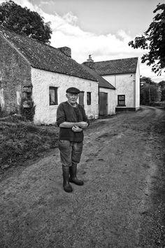 Ballinasloe Farmer Outside His Cottage www.davidpolandphotography.com What A Wonderful World, Folklore, Old Photos, Wonders Of The World, Farmer, Digital Camera, Ireland, Irish, The Outsiders
