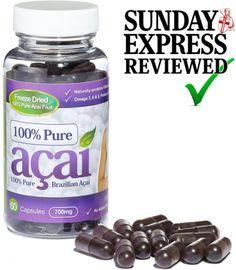 100% Pure Acai Berry 700mg No Fillers (30 Day Supply) 1PUREACAI