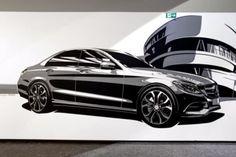 Video: Mercedes designers make tape drawing a work of art - Car Design News
