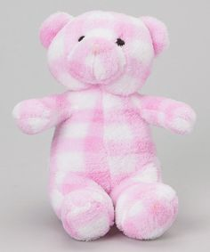 Take a look at this Pink Gingham 11'' Bear & Stroller Blanket by Stephan Baby on #zulily today! $11 !!