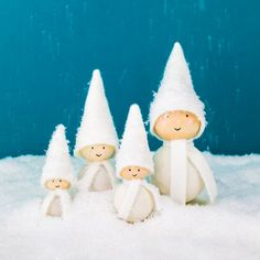 Make these sweet tomten figures inspired by Scandinavian folklore.