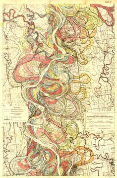Map Of Ancient Courses Of The Mississippi River Cape Girardeau