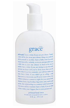 philosophy 'baby grace' perfumed body lotion.
