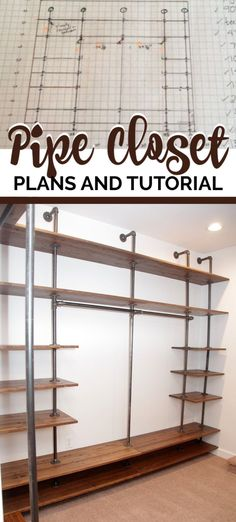 How to Build a DIY Industrial Pipe Walk-In Closet Wow! What a closet! Detailed plans and tips to make it happen.