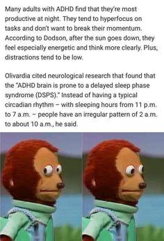 Adhd And Autism, Add Adhd, Weird Facts, Fun Facts, Adhd Brain, Mental Disorders, Aspergers, Mental Health Awareness, Mental Illness