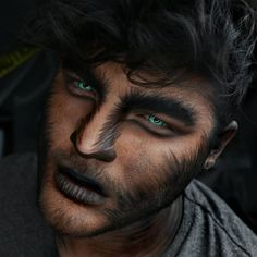 halloween costume creepy makeup looks cool wolf for men creepy cool Halloween looks wolf costume makeup for menYou can find Halloween looks and more on our website Mens Halloween Makeup, Yeux Halloween, Halloween Men, Halloween Makeup Looks, Creepy Halloween, Couple Halloween, Male Halloween Costumes, Werewolf Costume Mens, Halloween Ideas