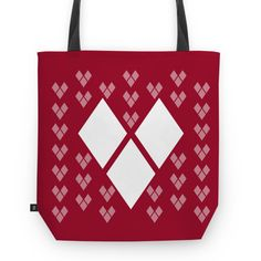 Bolsa Los Hearts - II | Desenho/Estampa de @danistarart | A venda na @colab55 | #coração #love #amor #heart #losango #geométrico #geometric #white #red #vermelho #branco #bolsa #bag #totebag #sacola #estampa #pattern