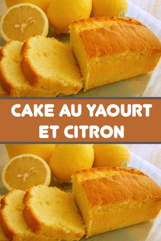 Recette Cake au Yaourt et citron - The Best Easy Recipes Lemon Recipes Easy, Quick Dessert Recipes, Easy Cheesecake Recipes, Easy No Bake Desserts, Yogurt Recipes, Easy Cake Recipes, Gourmet Recipes, Lemon Yogurt Cake, Devilled Eggs Recipe Best