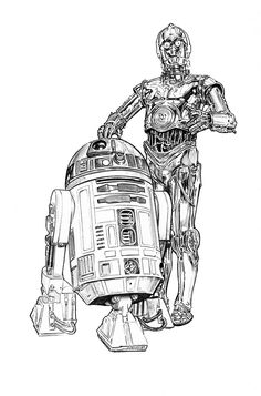 Artoo and Threepio by jasonpal on @DeviantArt