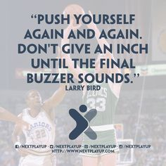 Push yourself again and again...