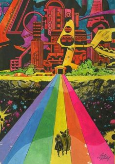 The Rainbow Bridge by Jack Kirby Best Picture For Marvel Comics vintage For Your Comic Book Artists, Comic Artist, Comic Books Art, Marvel Comics, Marvel Art, Art Science Fiction, Sci Fi Kunst, Marvel Universe, Jack Kirby Art