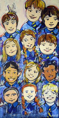 The Painting of Classmates, Anna Bartlett