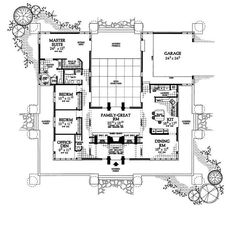Center Courtyard House Plans | Coventry Courtyard Series | house ...