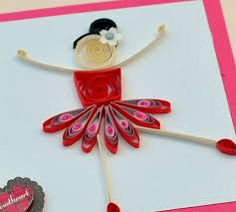 Image result for women's day hand made  quilling card