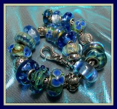 Clear Blue Waters from Penny on Trollbeads Gallery Forum!  Join us! www.trollbeadsgalleryforum.ning.com